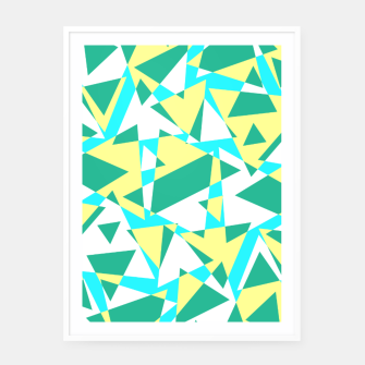 Thumbnail image of Pieces of colorful broken glass in summer colors Framed poster, Live Heroes