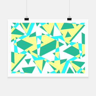 Miniatur Pieces of colorful broken glass in summer colors Poster, Live Heroes