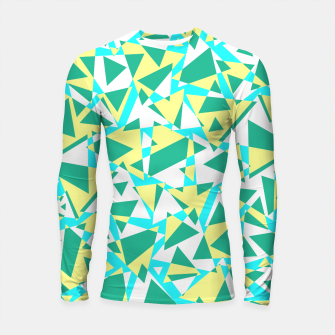 Miniatur Pieces of colorful broken glass in summer colors Longsleeve rashguard , Live Heroes