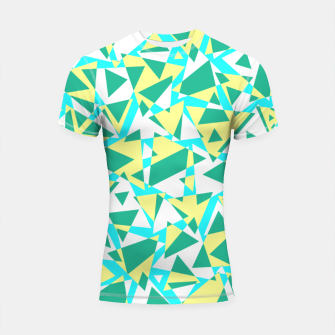 Miniatur Pieces of colorful broken glass in summer colors Shortsleeve rashguard, Live Heroes