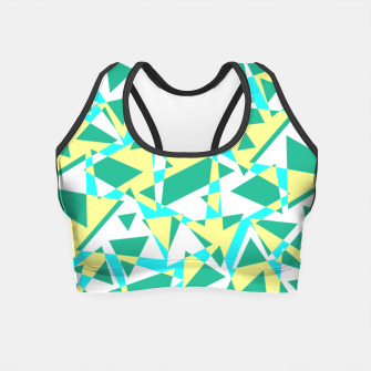Thumbnail image of Pieces of colorful broken glass in summer colors Crop Top, Live Heroes