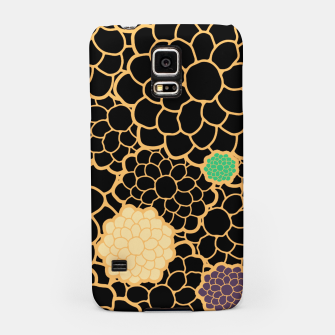Thumbnail image of Art chrysanthemums flowers in black and gold print Samsung Case, Live Heroes