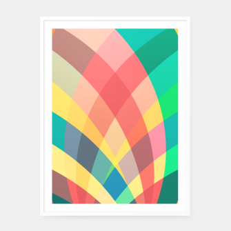 Imagen en miniatura de In the circus, colorful pastel shapes  Framed poster, Live Heroes