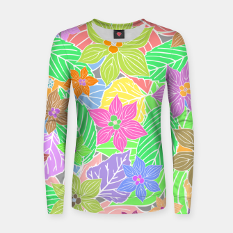 Imagen en miniatura de Fresh colors imaginary garden, botanical motifs Women sweater, Live Heroes