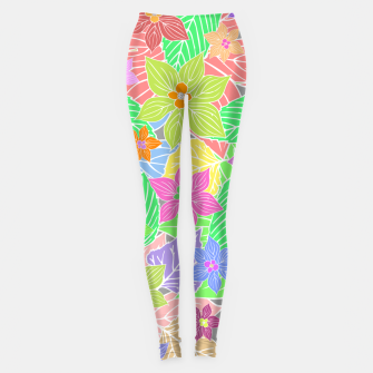 Imagen en miniatura de Fresh colors imaginary garden, botanical motifs Leggings, Live Heroes