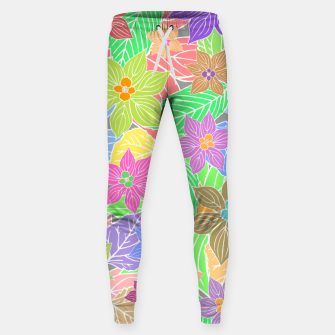 Imagen en miniatura de Fresh colors imaginary garden, botanical motifs Sweatpants, Live Heroes