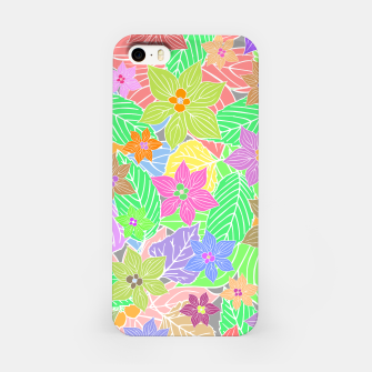 Imagen en miniatura de Fresh colors imaginary garden, botanical motifs iPhone Case, Live Heroes