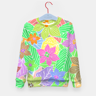 Imagen en miniatura de Fresh colors imaginary garden, botanical motifs Kid's sweater, Live Heroes