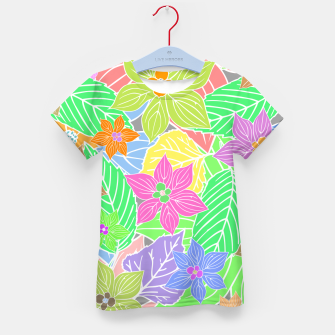 Imagen en miniatura de Fresh colors imaginary garden, botanical motifs Kid's t-shirt, Live Heroes