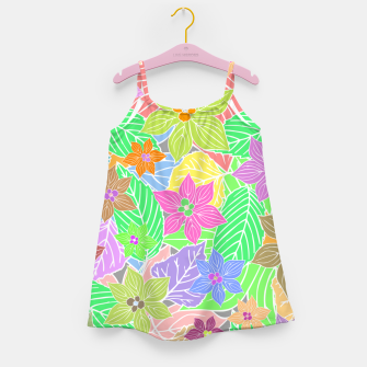 Imagen en miniatura de Fresh colors imaginary garden, botanical motifs Girl's dress, Live Heroes
