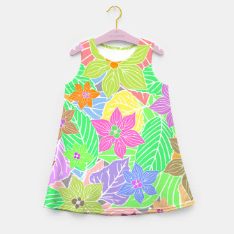 Imagen en miniatura de Fresh colors imaginary garden, botanical motifs Girl's summer dress, Live Heroes
