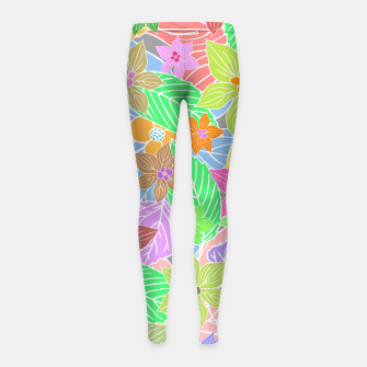 Imagen en miniatura de Fresh colors imaginary garden, botanical motifs Girl's leggings, Live Heroes
