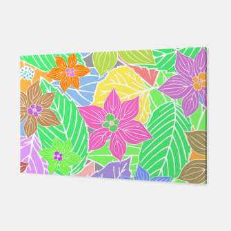 Imagen en miniatura de Fresh colors imaginary garden, botanical motifs Canvas, Live Heroes