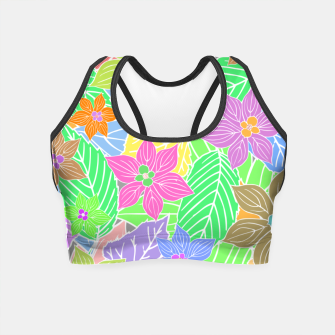 Imagen en miniatura de Fresh colors imaginary garden, botanical motifs Crop Top, Live Heroes