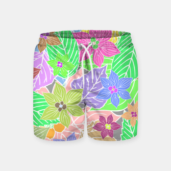 Imagen en miniatura de Fresh colors imaginary garden, botanical motifs Swim Shorts, Live Heroes