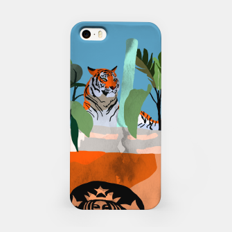 Miniatur Coffee tiger iPhone Case, Live Heroes