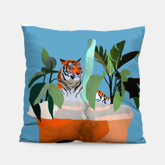 Miniatur Coffee tiger Pillow, Live Heroes