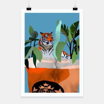 Miniatur Coffee tiger Poster, Live Heroes