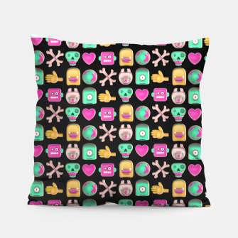 Miniatur Love robots and other stuff Pillow, Live Heroes