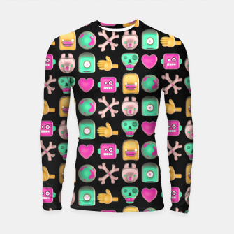Thumbnail image of Love robots and other stuff Longsleeve rashguard , Live Heroes