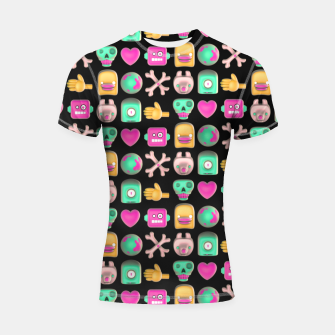 Thumbnail image of Love robots and other stuff Shortsleeve rashguard, Live Heroes