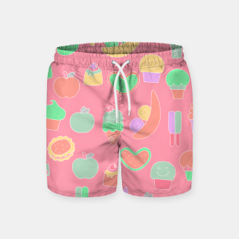 Thumbnail image of Sweet temptations, pink pastries, fruits and love Swim Shorts, Live Heroes