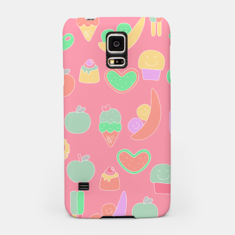 Thumbnail image of Sweet temptations, pink pastries, fruits and love Samsung Case, Live Heroes