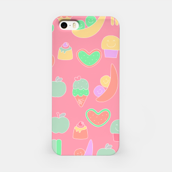 Thumbnail image of Sweet temptations, pink pastries, fruits and love iPhone Case, Live Heroes
