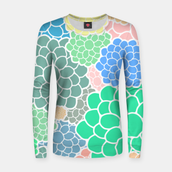 Thumbnail image of Blooming chrysanthemums flowers in pastel colors Women sweater, Live Heroes