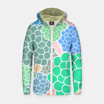 Thumbnail image of Blooming chrysanthemums flowers in pastel colors Zip up hoodie, Live Heroes