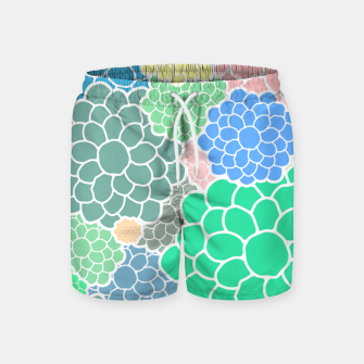 Thumbnail image of Blooming chrysanthemums flowers in pastel colors Swim Shorts, Live Heroes