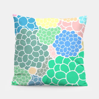Thumbnail image of Blooming chrysanthemums flowers in pastel colors Pillow, Live Heroes