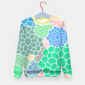 Thumbnail image of Blooming chrysanthemums flowers in pastel colors Kid's sweater, Live Heroes