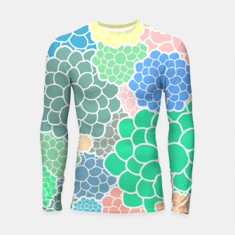 Thumbnail image of Blooming chrysanthemums flowers in pastel colors Longsleeve rashguard , Live Heroes