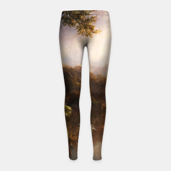 Thumbnail image of The River of Light by Frederic Edwin Church Girl's leggings, Live Heroes