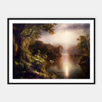Thumbnail image of The River of Light by Frederic Edwin Church Framed poster, Live Heroes