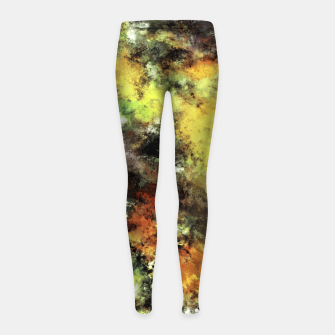 Thumbnail image of Leaning strata Girl's leggings, Live Heroes