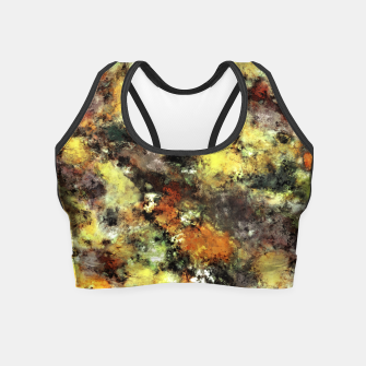 Thumbnail image of Leaning strata Crop Top, Live Heroes