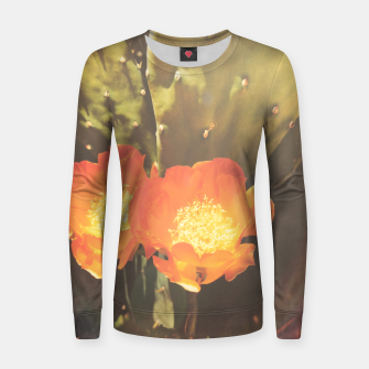 Thumbnail image of cactus blossom sunbeams Women sweater, Live Heroes