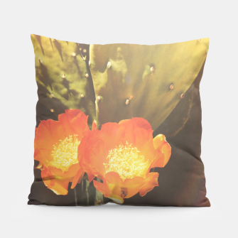 Thumbnail image of cactus blossom sunbeams Pillow, Live Heroes