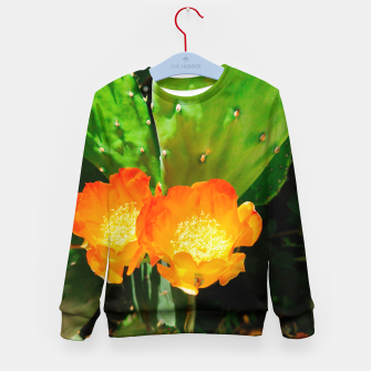 Thumbnail image of cactus blossom vibrant Kid's sweater, Live Heroes