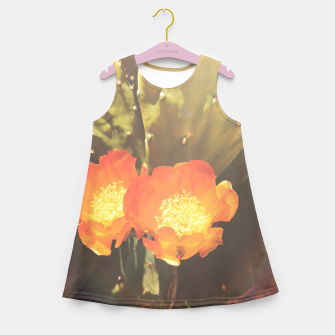 Thumbnail image of cactus blossom sunbeams Girl's summer dress, Live Heroes