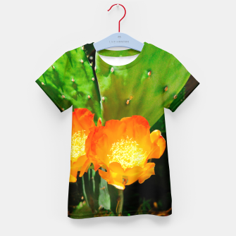 Thumbnail image of cactus blossom vibrant Kid's t-shirt, Live Heroes