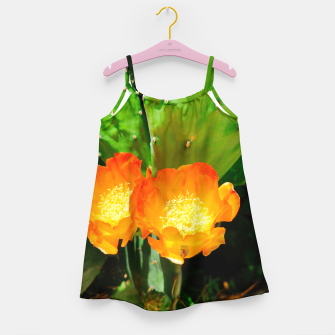 Thumbnail image of cactus blossom vibrant Girl's dress, Live Heroes