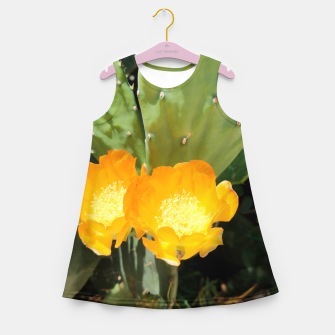 Thumbnail image of cactus blossom std Girl's summer dress, Live Heroes