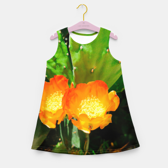 Thumbnail image of cactus blossom vibrant Girl's summer dress, Live Heroes
