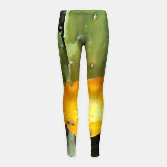 Thumbnail image of cactus blossom std Girl's leggings, Live Heroes