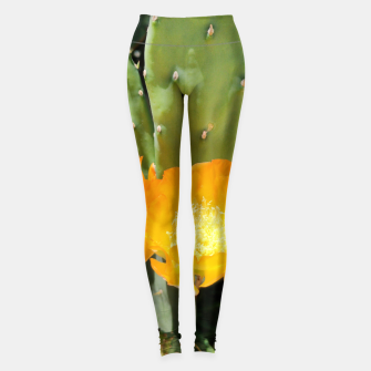 Thumbnail image of cactus blossom std Leggings, Live Heroes