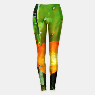 Thumbnail image of cactus blossom vibrant Leggings, Live Heroes
