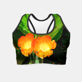 Thumbnail image of cactus blossom vibrant Crop Top, Live Heroes